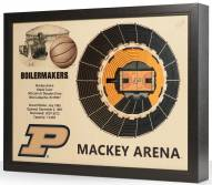 Purdue Boilermakers Basketball 25-Layer StadiumViews 3D Wall Art