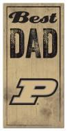 Purdue Boilermakers Best Dad Sign