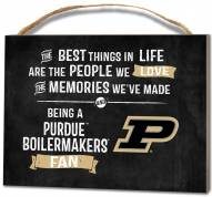 Purdue Boilermakers Best Things Small Plaque