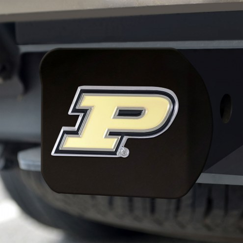 Purdue Boilermakers Black Color Hitch Cover