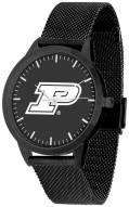 Purdue Boilermakers Black Dial Mesh Statement Watch