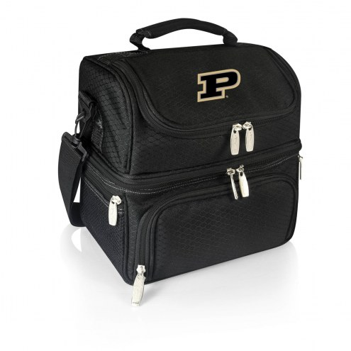 Purdue Boilermakers Black Pranzo Insulated Lunch Box