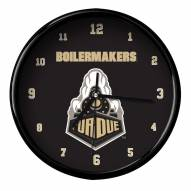 Purdue Boilermakers Black Rim Clock