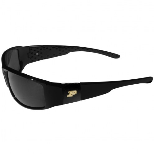 Purdue Boilermakers Black Wrap Sunglasses