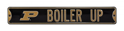 Purdue Boilermakers Boiler Up Street Sign