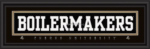 """Purdue Boilermakers """"Boilermakers"""" Stitched Jersey Framed Print"""