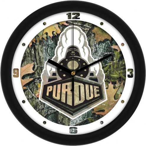 Purdue Boilermakers Camo Wall Clock