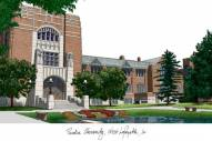 Purdue Boilermakers Campus Images Lithograph