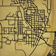 Purdue Boilermakers Campus Map Print