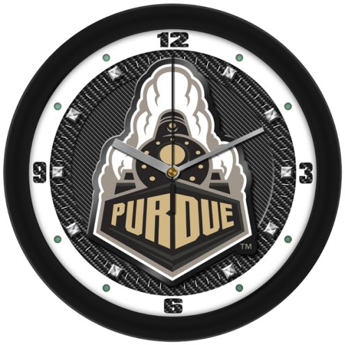 Purdue Boilermakers Carbon Fiber Wall Clock