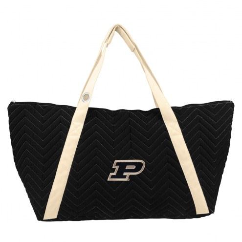 Purdue Boilermakers Chevron Stitch Weekender Bag