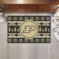 Purdue Boilermakers Christmas Sweater Starter Rug