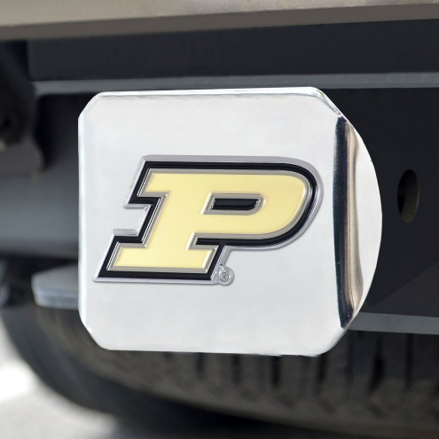 Purdue Boilermakers Chrome Color Hitch Cover