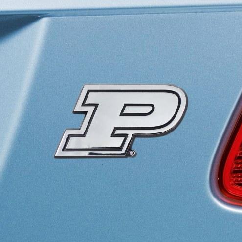 Purdue Boilermakers Chrome Metal Car Emblem
