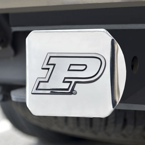 Purdue Boilermakers Chrome Metal Hitch Cover