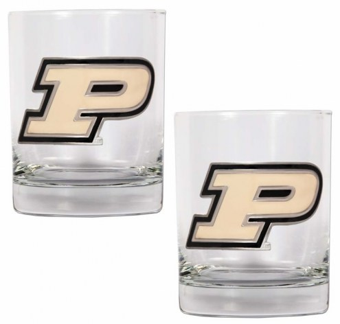 Purdue Boilermakers College 2-Piece 14 Oz. Rocks Glass Set