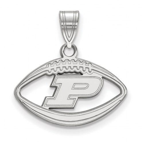 Purdue Boilermakers Sterling Silver Football Pendant