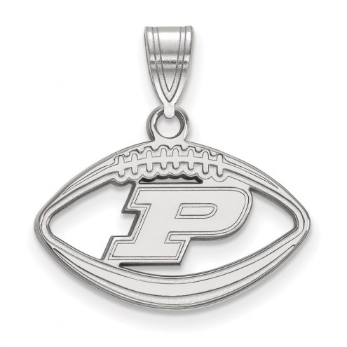 Purdue Boilermakers Sterling Silver Football Pendant