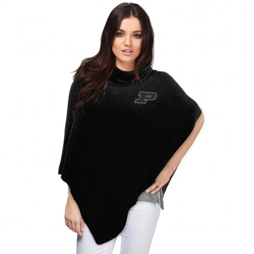Purdue Boilermakers Crystal Knit Poncho