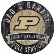 Purdue Boilermakers Dad's Garage Sign