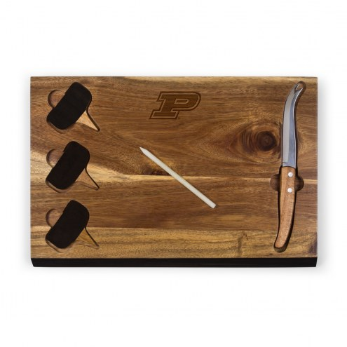 Purdue Boilermakers Delio Bamboo Cheese Board & Tools Set