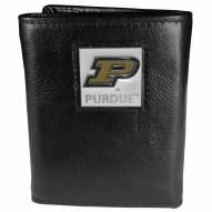 Purdue Boilermakers Deluxe Leather Tri-fold Wallet in Gift Box