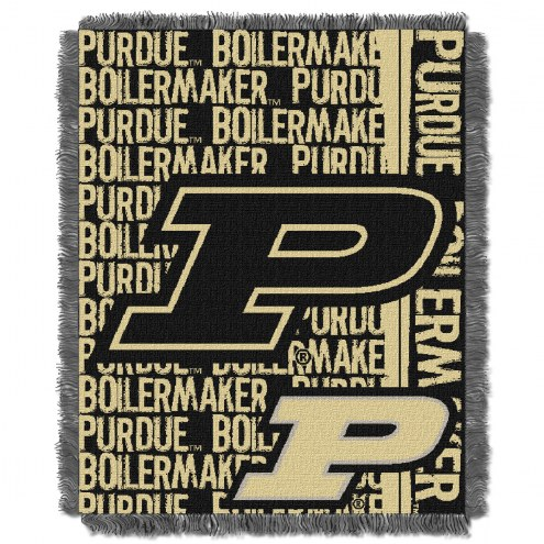 Purdue Boilermakers Double Play Woven Throw Blanket