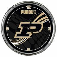 Purdue Boilermakers Dynamic Chrome Clock