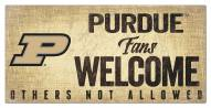 Purdue Boilermakers Fans Welcome Sign