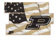 Purdue Boilermakers Flag 3 Plank Sign