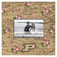 """Purdue Boilermakers Floral 10"""" x 10"""" Picture Frame"""