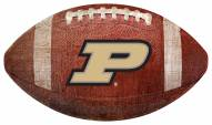 Purdue Boilermakers Football Shaped Sign