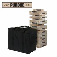 Purdue Boilermakers Giant Wooden Tumble Tower Game