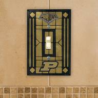 Purdue Boilermakers Glass Single Light Switch Plate Cover