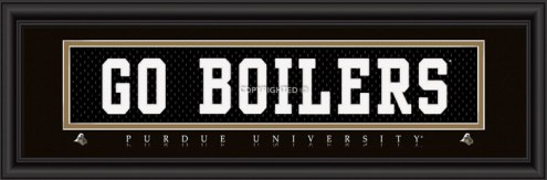 """Purdue Boilermakers """"Go Boilers"""" Stitched Jersey Framed Print"""