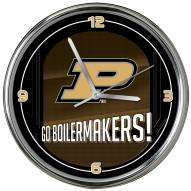 Purdue Boilermakers Go Team Chrome Clock