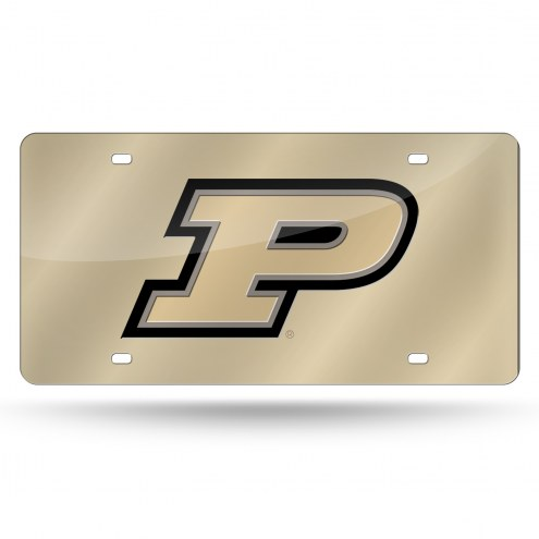 Purdue Boilermakers Gold Laser Cut License Plate