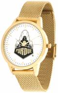 Purdue Boilermakers Gold Mesh Statement Watch