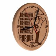 Purdue Boilermakers Laser Engraved Wood Clock