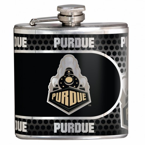 Purdue Boilermakers Hi-Def Stainless Steel Flask