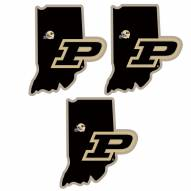 Purdue Boilermakers Home State Decal - 3 Pack