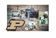 Purdue Boilermakers I Love My Family Clip Frame