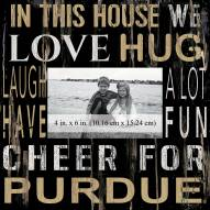 """Purdue Boilermakers In This House 10"""" x 10"""" Picture Frame"""