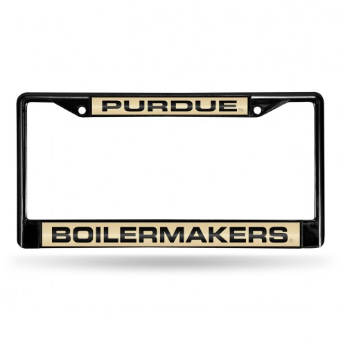 Purdue Boilermakers Laser Black License Plate Frame