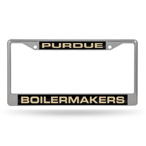 Purdue Boilermakers Laser Chrome License Plate Frame