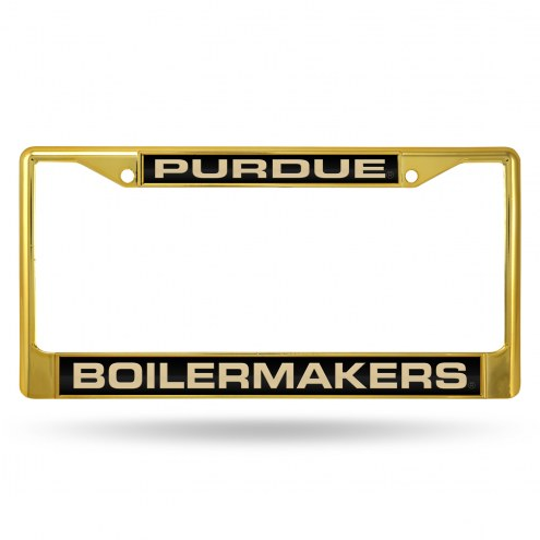 Purdue Boilermakers Laser Colored Chrome License Plate Frame