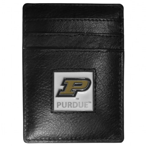 Purdue Boilermakers Leather Money Clip/Cardholder in Gift Box