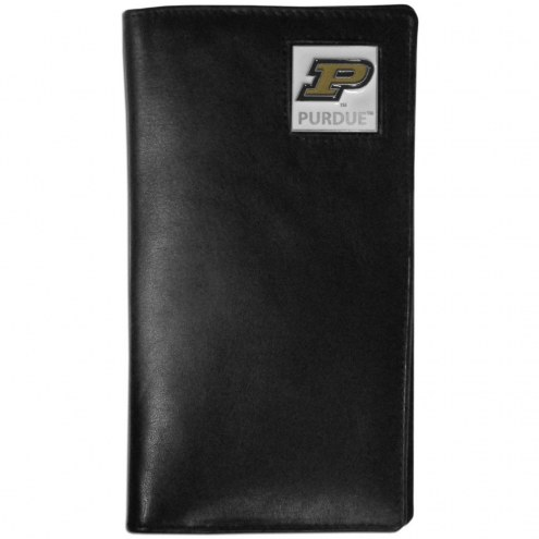 Purdue Boilermakers Leather Tall Wallet