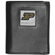 Purdue Boilermakers Leather Tri-fold Wallet