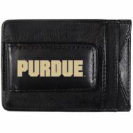 Purdue Boilermakers Logo Leather Cash and Cardholder